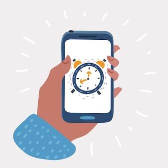 スマートフォン画面の目覚まし時計