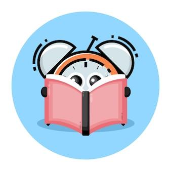 Будильник читает книжный персонаж