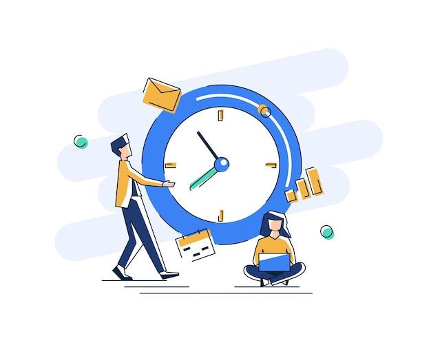Будильник звонит на белом фоне концепция управления рабочим временем быстрое пробуждение реакции