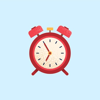 Alarm clock, wake-up time. flat vector icon