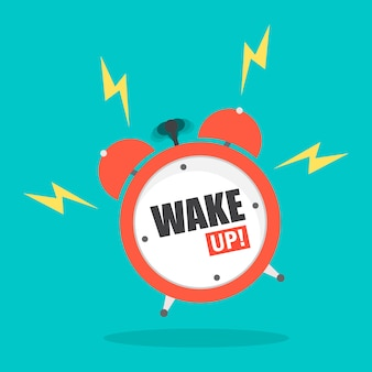 Alarm clock with word wake up