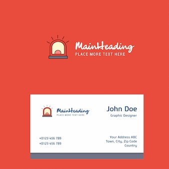 Alarm  logo  with business card template. elegant corporate identity. -
