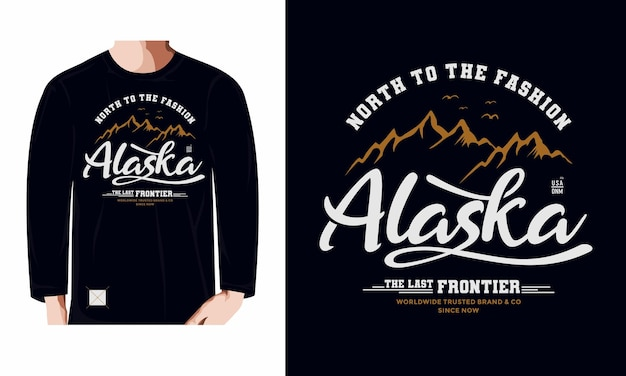 Alaska the last frontier premium vector