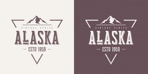 Alaska state textured vintage  t-shirt and apparel design,