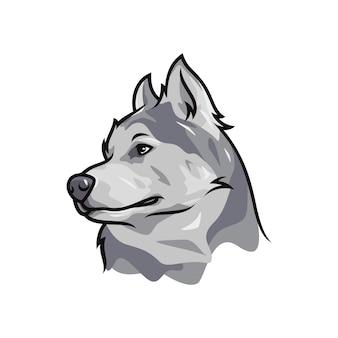 Alaskan malamute dog - vector logo/icon illustration mascot
