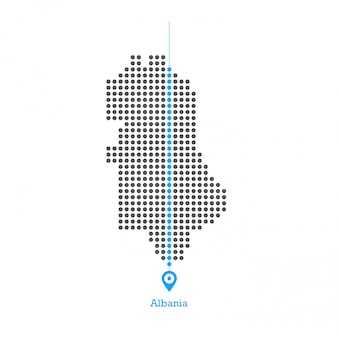 Albania doted map design vector