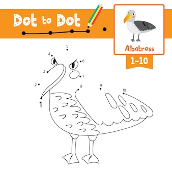 Albatross dot to dot game and coloring book