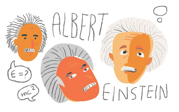 Albert einstein in artistic sketch