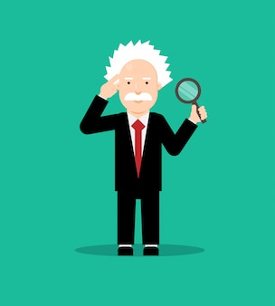 Albert einstein flat design