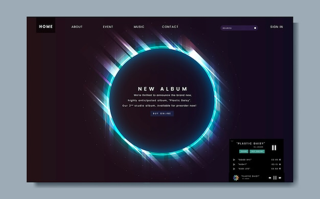Album release website design