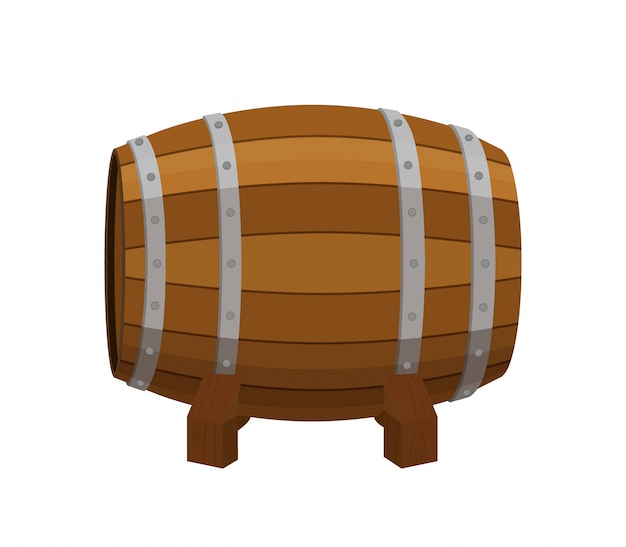 Alcohol barrel, drink container, wooden keg
