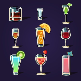 Alcohol coctails and other drinks