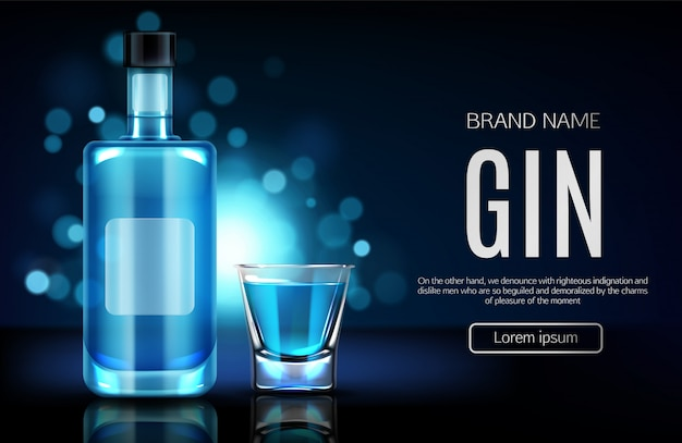 Alcohol drinks store realistic vector webpage