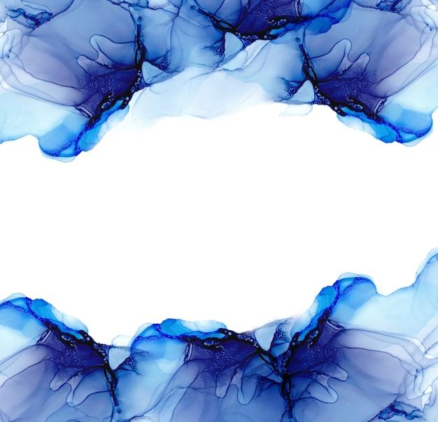 アルコールインクの海の質感。流体インクの抽象的な背景。カラフルな抽象絵画の背景