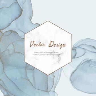 Текстура чернил спирта и геометрическая мраморная рамка баннер. современный абстрактный дизайн.