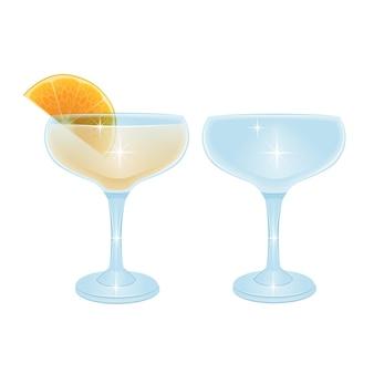 알콜 칵테일 음료 세트 컬렉션