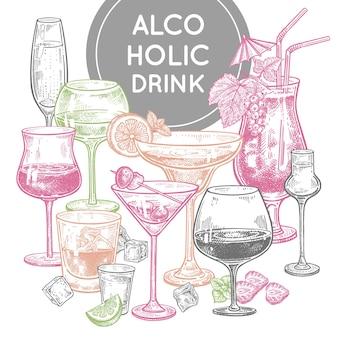 Плакат с алкогольными напитками