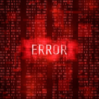 アラートエラーマッサージ通知コンセプト。エラーデジタルレポート。ハッカーによるシステムハッキング