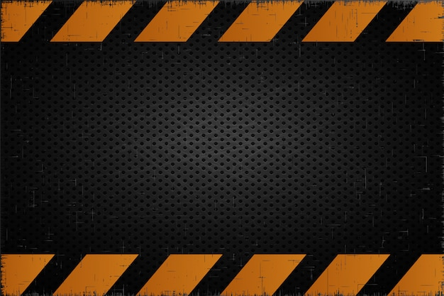 Alert metal backdrop  accident industrial background