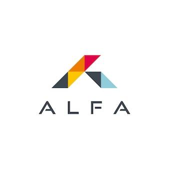 Alfa - abstract letter a logo