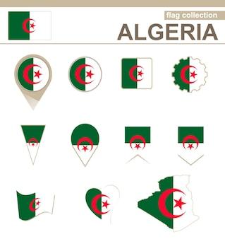Algeria flag collection, 12 versions