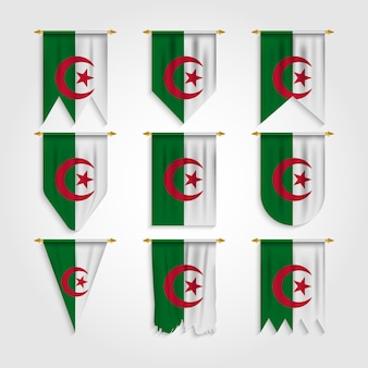 Флаг алжира в разных формах, флаг алжира в разных формах