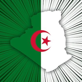 Algeria independence day map design