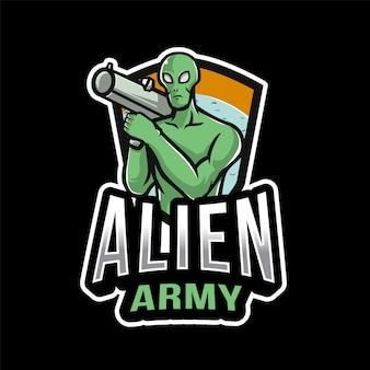 Alien army esport logo