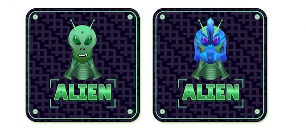 The alien mascot and his combat helmet - esport logo