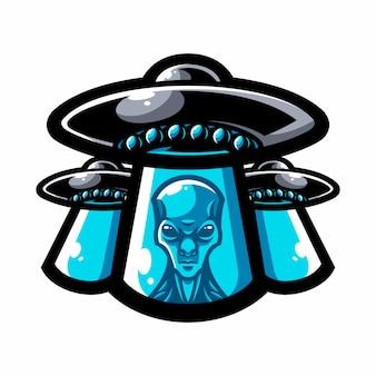 Alien mascot logo