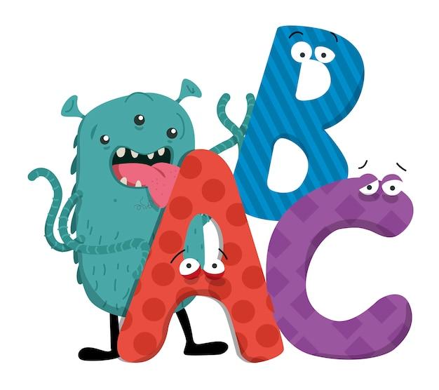 Alien monster буквы abc