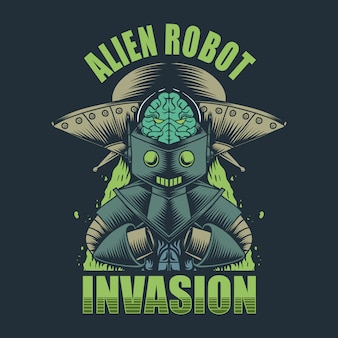 Alien robot invasion