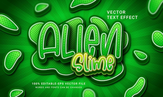Alien slime green 3d text style effect