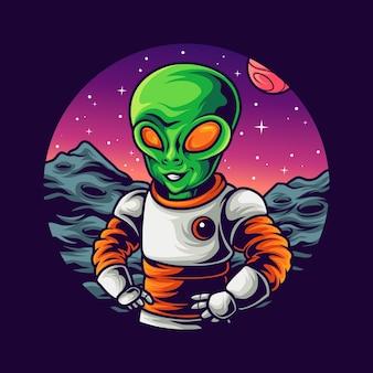 Alien in space