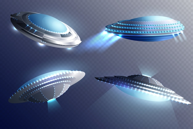 Alien spaceships set