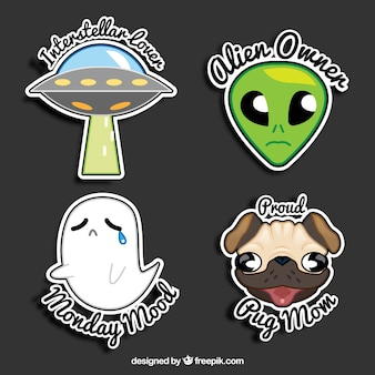 Alien stickers collection
