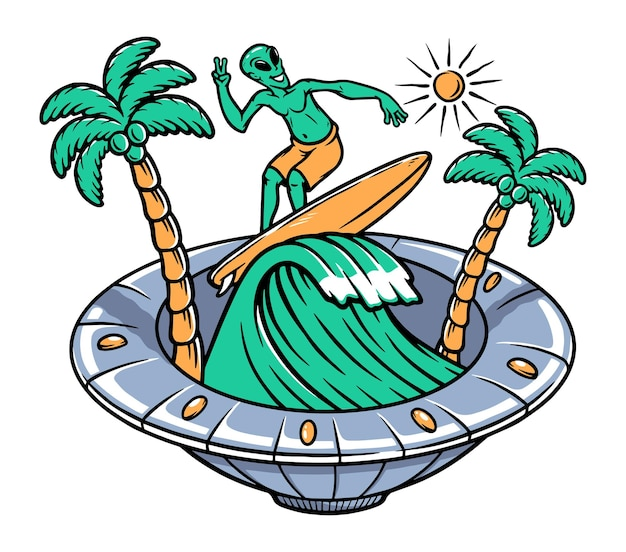 Инопланетный серфинг внутри нло