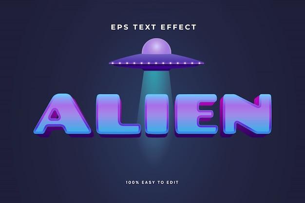 Alien text effect