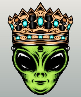 Alien with gold crown.