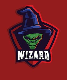 Alien wizard e sports logo