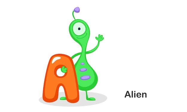 A for alien
