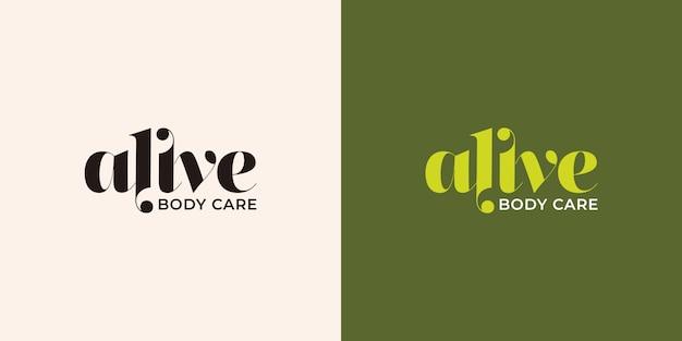 Alive typography logo design template