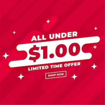 All under dollar one sale and deal template