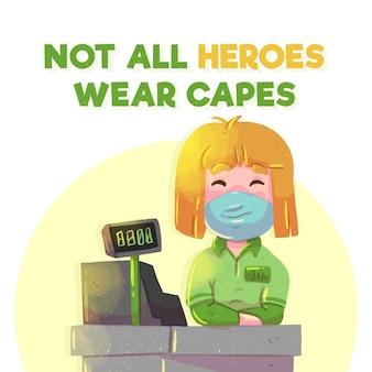 Non tutti gli eroi indossano il concetto di mantello