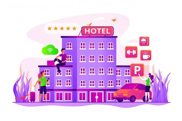 All-inclusive hotel concept.