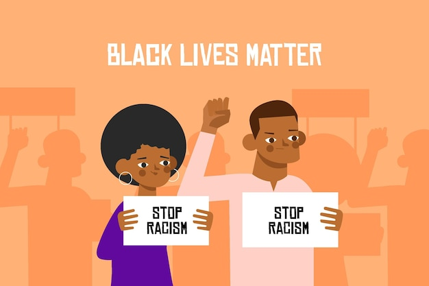 All lives matter black people protesting