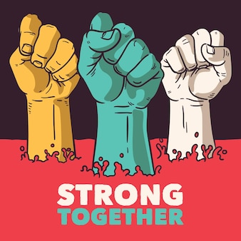 All lives matter we are strong together