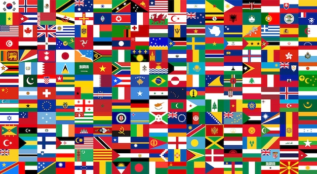 All national flags of the world . background style