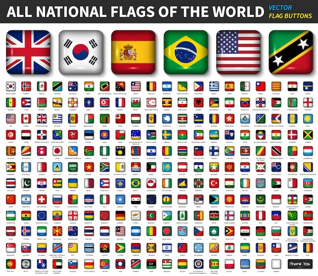All national flags of the world