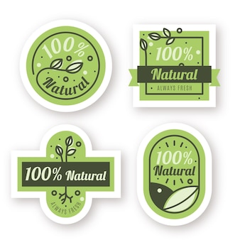 All natural badge collection